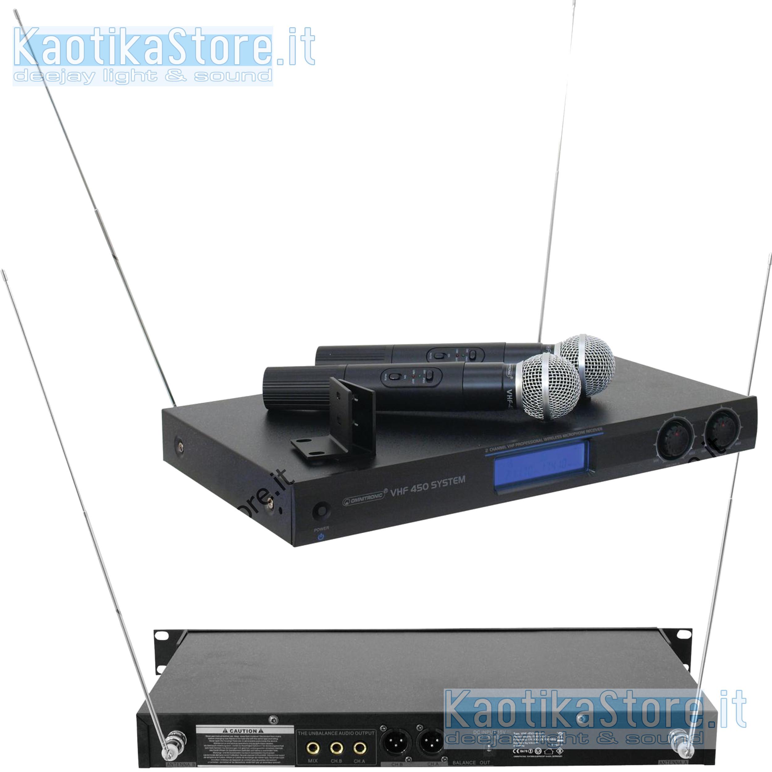 Microfono senza fili omnitronic vhf 450 doppio x karaoke piano bar kaotikastore ebay - Specchi riflessi karaoke ...