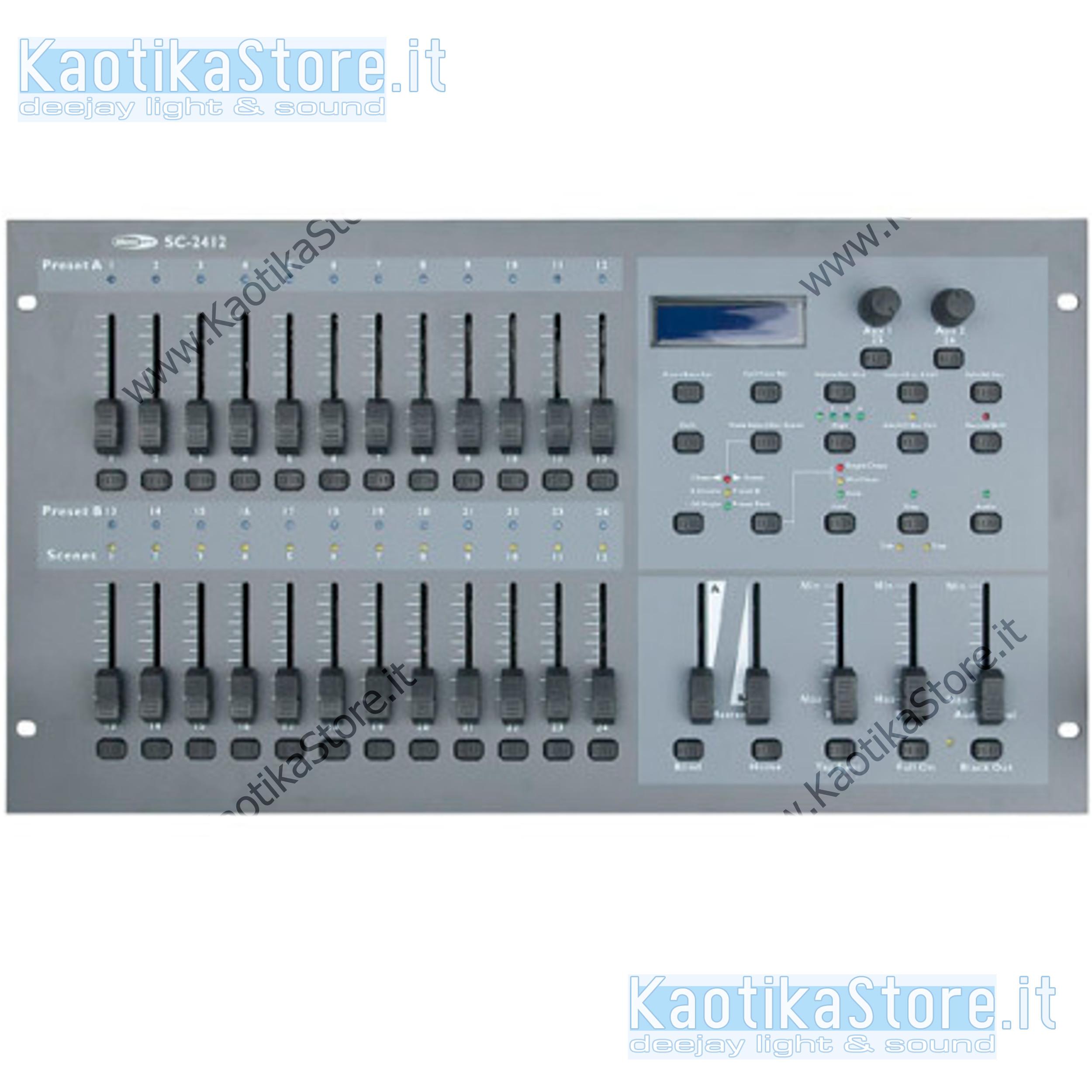 Centralina luci dmx showtec sc 2412 mixer banco regia luci for Quanto tempo deve passare per richiedere un altro finanziamento