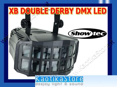 Showtec XB-Double Derby DMX effetto luce LED discoteca luci