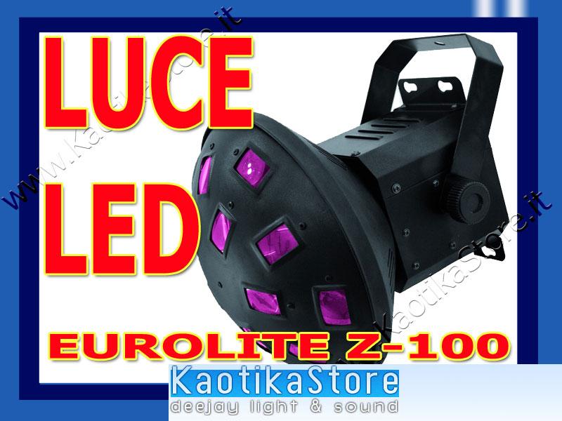 effetto luce eurolite led z 100 rgb dj discoteca club faro luci kaotikastore ebay. Black Bedroom Furniture Sets. Home Design Ideas