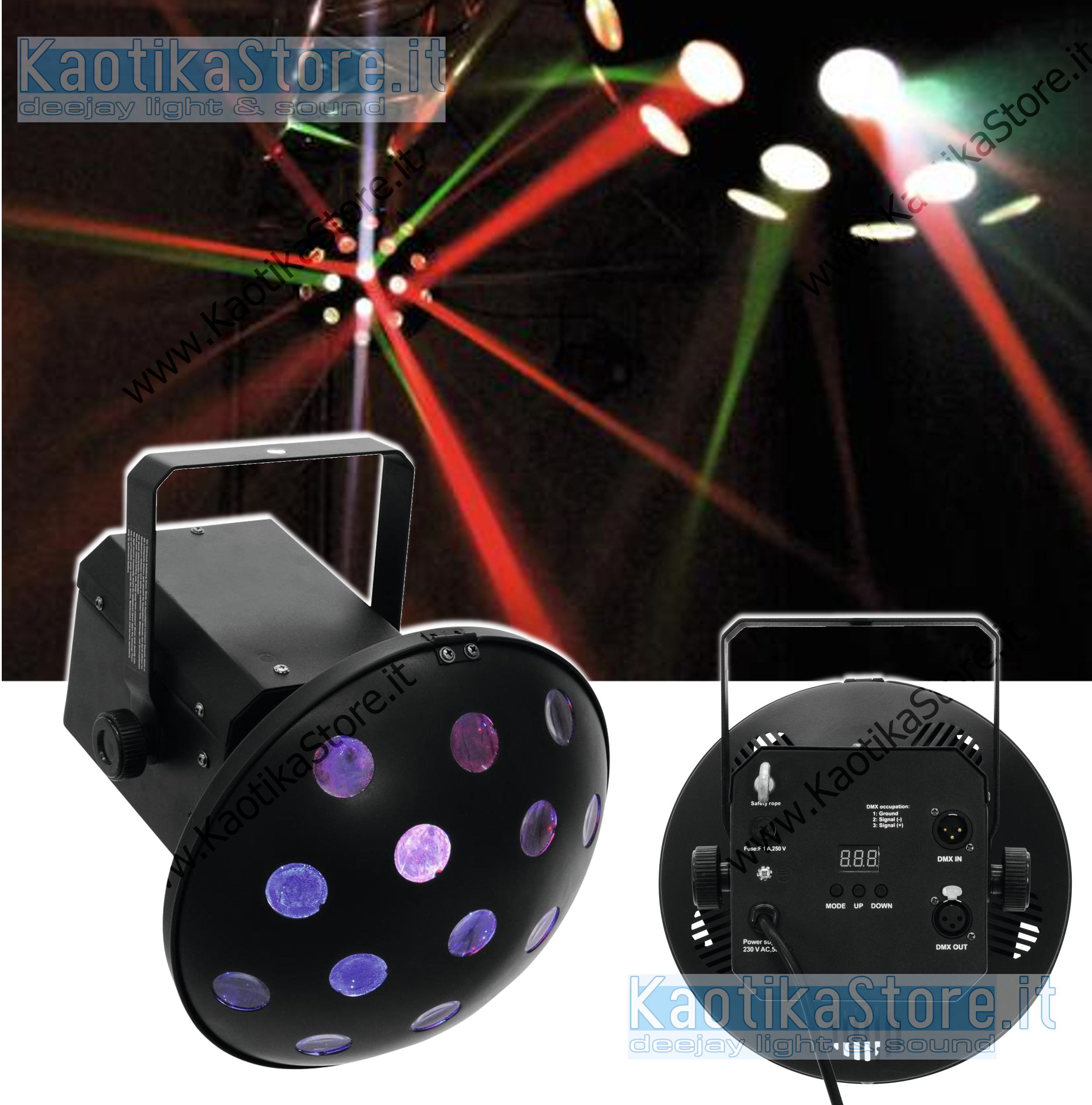 Effetto luce eurolite led z 400 rgb luci per feste festa for Luci led colorate