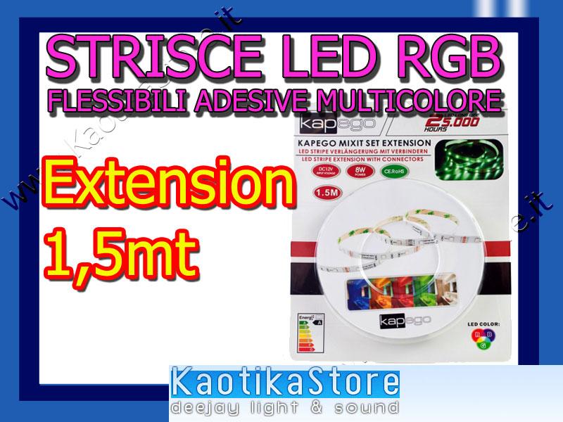 LED STRIPES RGB red green blue STRISCE a LED per decoro arredo casa pub discoteca locali dj arredamento adesive flessibili pratiche multicolore LED RGB