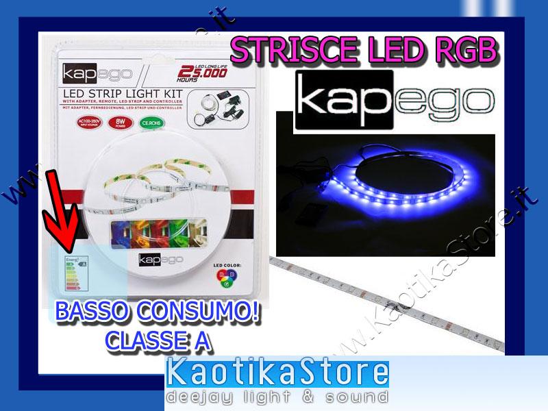 STRICE LED RGB rosso verde blu red green & blue strisce adesive flessibili per decoro arredo casa pub discoteca locali dj arredamento
