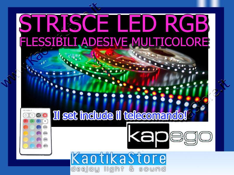 Striscia led rgb telecomando 450cm effetto chillout for Strisce led adesive