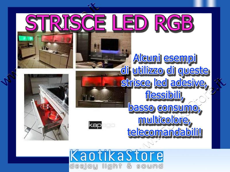 KAPEGO MIXit RGB SET STRICE LED RGB rosso verde blu red green & blue strisce adesive flessibili per decoro arredo casa pub discoteca locali dj arredamento