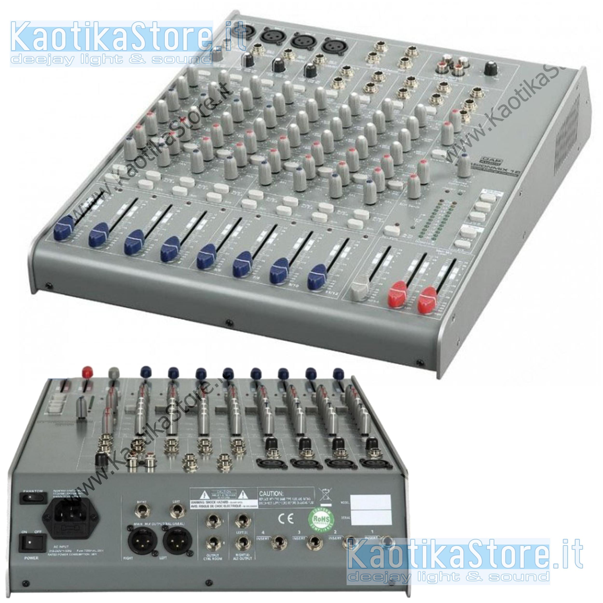 Dap Audio Mixer Session 12 Canali Live Karaoke Piano Bar