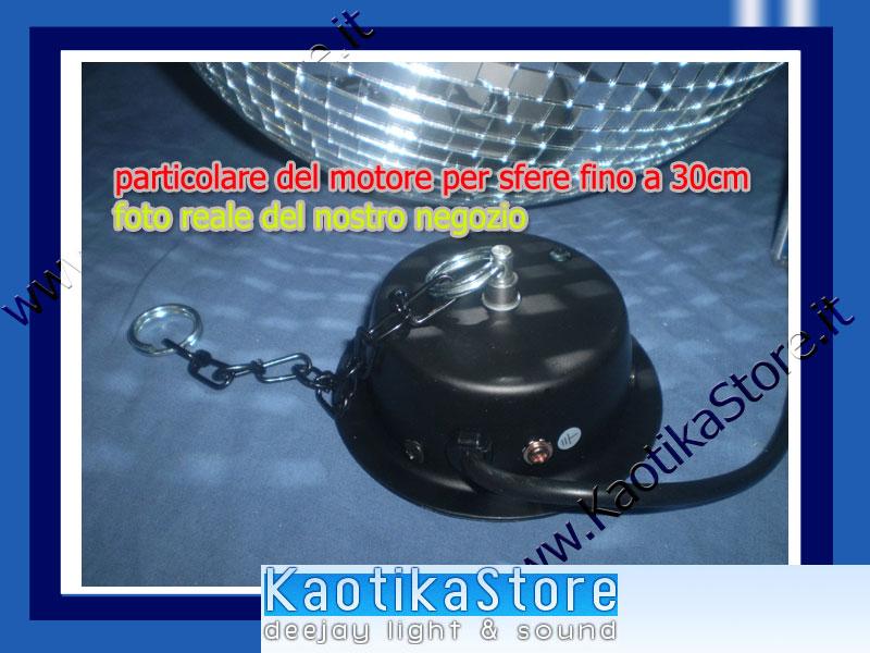 Motore per sfera specchiata specchi 10 20 30 cm diametro - Specchi riflessi karaoke ...