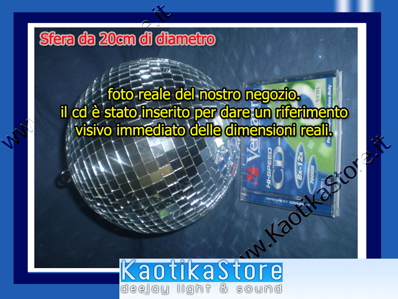 Sfera specchi palla 20cm effetto luce festa discoteca - Specchi riflessi karaoke ...