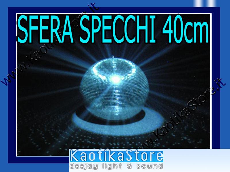 Set sfera 30cm faretti motore palla vetri specchi feste luce dj kaotikastore ebay - Specchi riflessi karaoke ...