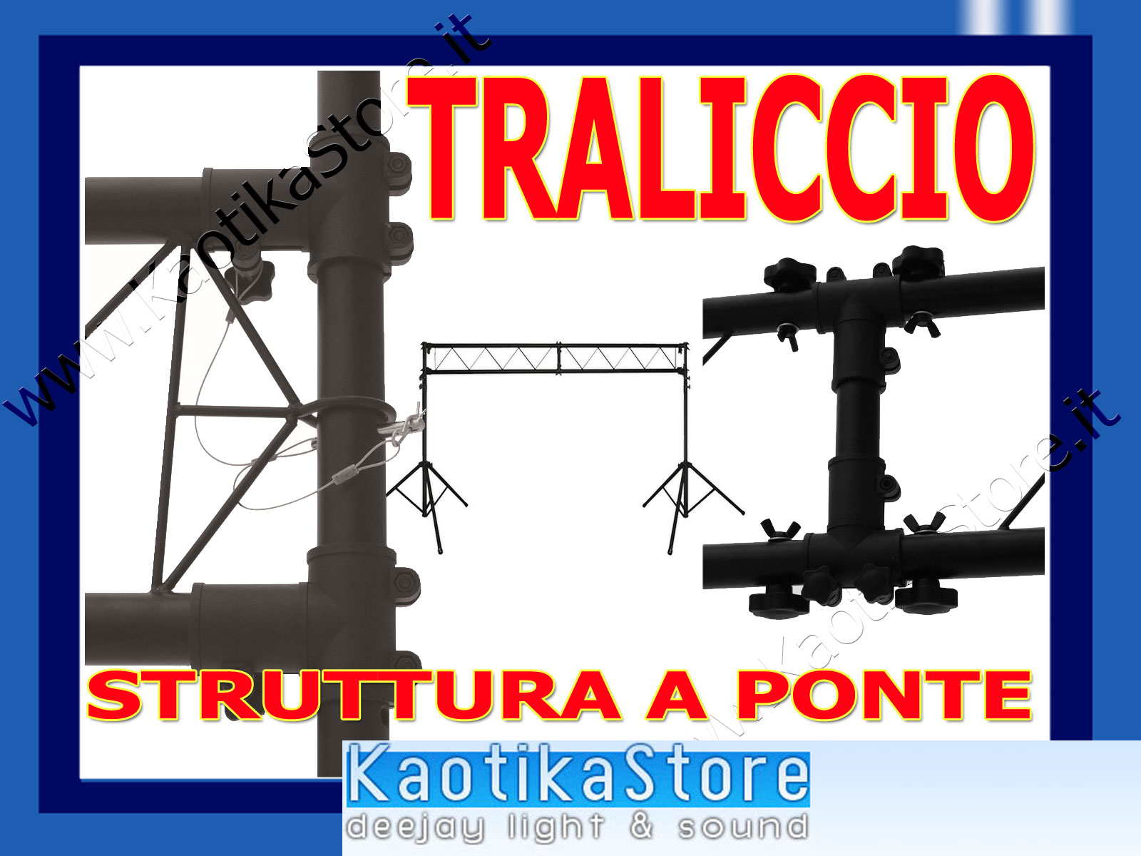 Ii alu plus truss two stand with t-bars struttura a ponte mobile per