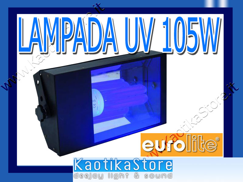 EUROLITE UV Light ES 105w porta plafoniera lampada wood ...