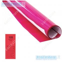 Gelatina PINK 75x50cm colore per fari PAR filtri colorati foglio colorato EUROLITE Color Foil 128 bright pink 61x50cm GELATINA I