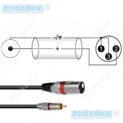 Omnitronic cavo RCA/XLR maschio lunghezza 0,9 metri