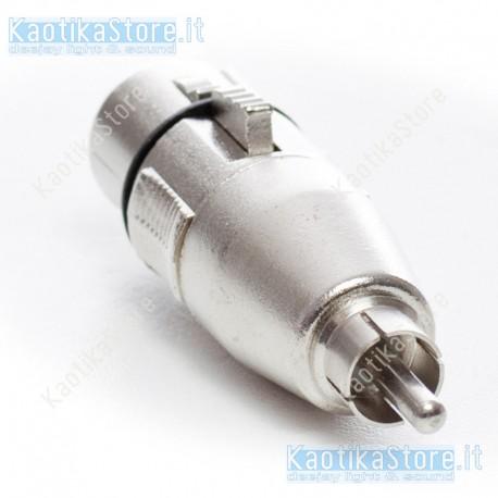 Sirus Pro adattatore XLR 3 poli femmina / RCA maschio