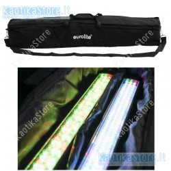 SET 2  EUROLITE LED Bar 252 RGB 10mm 20° + BORSA barra illuminazione soffitto parete muro