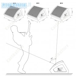 """Dap Audio M10 monitor attivo spia attiva cassa da 10"""" Bi-Amp, 415W"""
