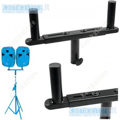 Omnitronic GB-1 Stand adapter supporto per palo treppiede sollevamento casse