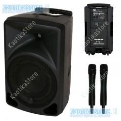 """Dap Audio PSS-110 MKII Impianto audio portatile da 10"""", alloggiamento in ABS, 2 microfoni wireless, 2,4GHz"""