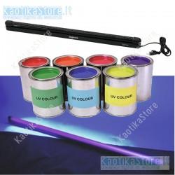 Eurolite Lampada UV 60cm con plafoniera slim ultravioletti party fluo 18W