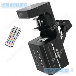 Eurolite LED MFE-20 Hybrid Beam Effect luce scanner e strobo in un solo effetto con telecomando