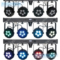 Showtec Compact Power Lightset 4 RGBW con palo e borsa sistema completo fari piatti RGB