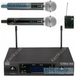 DAP Audio COM-42 microfono wireless UHF con dispositivo manuale