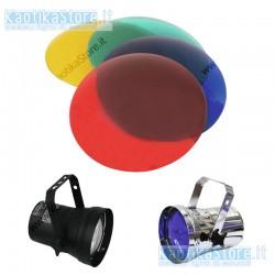 set di plastiche colorate sagomate per faretti PAR 36 faretto sfera specchiata gelatina filtri colore