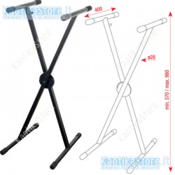 Dap Audio Keyboard Stand Ergo1 supporto per tastiera