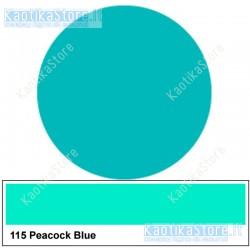 Gelatina BLU TURCHESE, PAVONE 75x50cm per fari PAR filtri colorati foglio colore