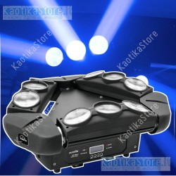Eurolite LED MFX-4 Beam effect testa mobile tripla barra RGBW DMX moving head