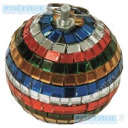Sfera specchiata 5cm multicolore decorazione natale mini palla specchi vetro palletta