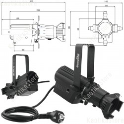 Eurolite LED PFE-10 3000K Profile Spot bk handly stage spotlight with 32 W LED by CREE Profile Mini
