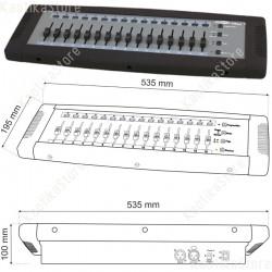 Showtec Easy 16 DMX controller semplificato fino 32 canali per settaggio fari ed effetti luce