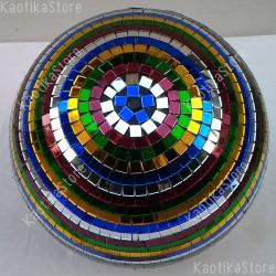 Sfera specchiata 30cm MULTICOLORE decorazione palla specchi vetro