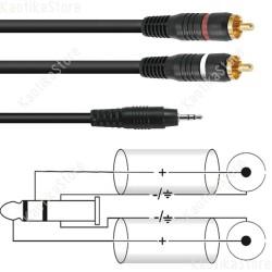Omnitronic cavo SKC-60 3.5 jack / 2 x RCA 6 metri connessione pc