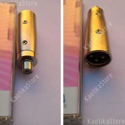 Omnitronic Adattatore RCA fermmina / XLR maschio spinotto connettore audio mixer dj plug