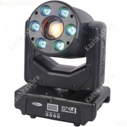 Showtec Shark Combi Spot One LED 30W + 6xRGB wash testa mobile luci discoteca testa rotante DMX