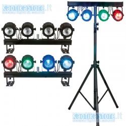 Showtec Compact Power Lightset COB con palo e borsa sistema completo fari RGB