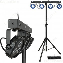 Showtec Compact Power Lightset RGB-UV con palo e borsa sistema completo fari piatti RGB strobo