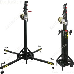 Showtec MT-150 Lifting Tower Supporti Mammoth 5,3m torre sollevamento argano palco piazza concerto service audio luci