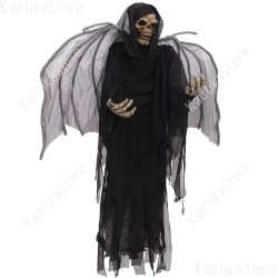 Halloween scheletro alato morte nera figura decorativa