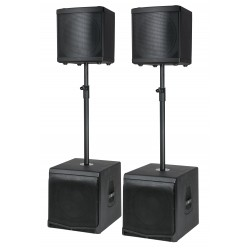Dap Audio Live DLM Speakerset sistema attivo con 2 subwoofer + 2 satelliti speaker