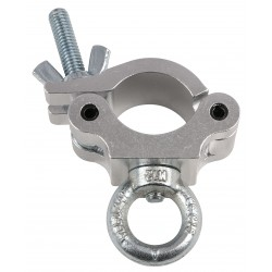 Showtec 50mm Half coupler with lifting eye  gancio supporto luci con occhiello attacco fari discoteca