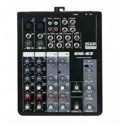 Dap Audio GIG-62 Mixer live a 6 canali con alimentazione Phantom