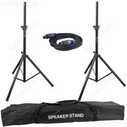 DAP-Audio Speaker Stand set compreso cavo delle casse e borsa di trasporto coppia pali sollevamento cassa attive passive