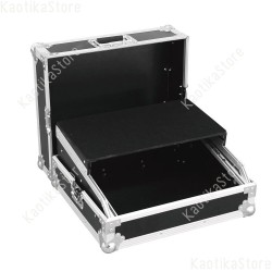 Roadinger Flightcase Mixer Case Pro LS-19 Laptop Tray bk