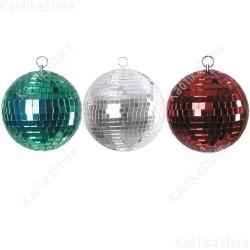 Set 3 sfera tricolore specchiata 10cm escluso motore specchi vetro