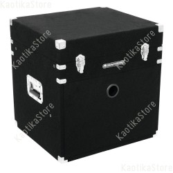 "Roadinger Combo Case 8U 483mm 19"" Flightcase 8U + 10U doppia porta per trasporto mixer cdj amplificazione"