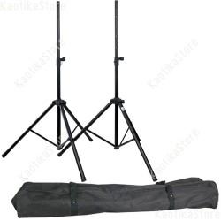 DAP-Audio Speaker Stand set con pratica borsa di trasporto coppia pali sollevamento cassa attive passive