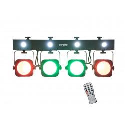EUROLITE LED KLS-190 Compact Light Set  DMX fari compatti piatti 4 spot 30W